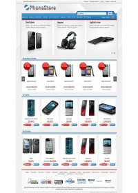 Opencart 1.5.2x -1.5.3.1- 1.5.4x Istanbul Phone Store Template