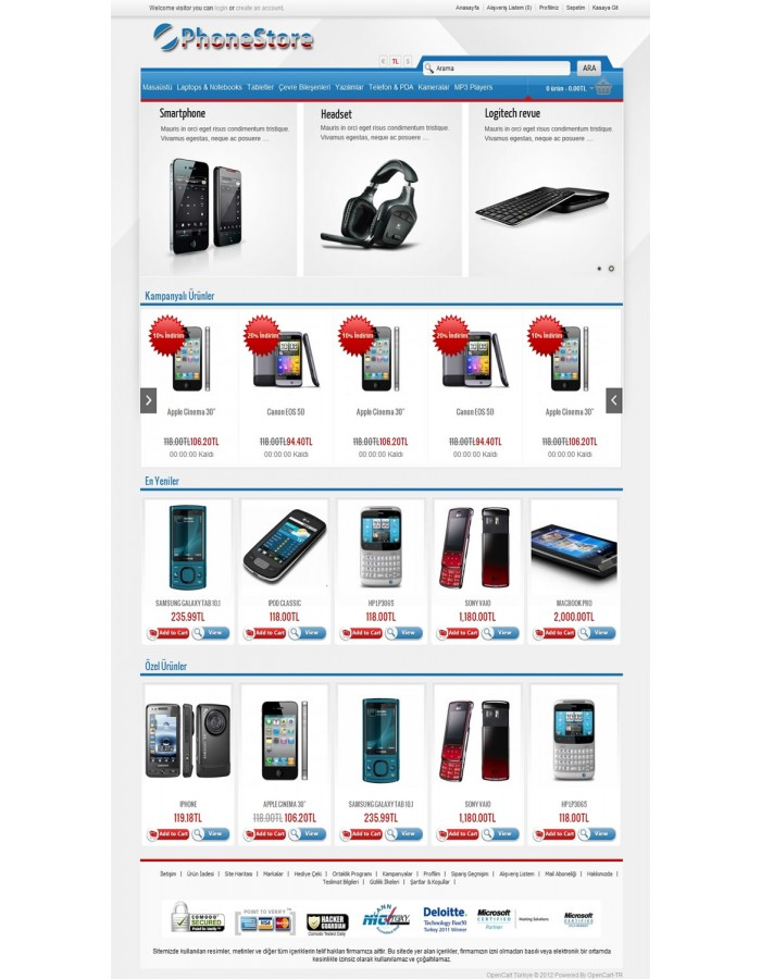 opencart bookstore template - opencart 1 1 5 3 1 1 istanbul phone store template